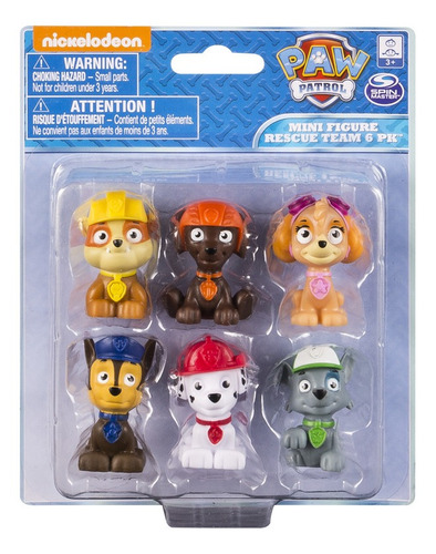 Paw Patrol Mini Fig. Coleccionables X 6