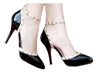 Sapato Feminino Salto Alto Scarpin Piramide Bolinha Etc