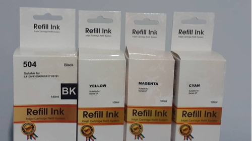 Tinta Epson Compatible Negro 504 L4150 L4160  140ml
