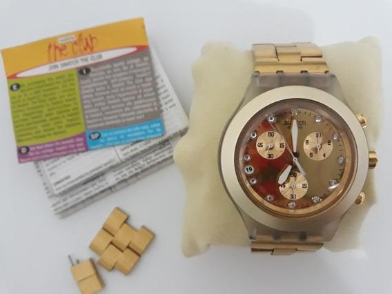 Relógio Swatch Full Blooded Dourado Feminino