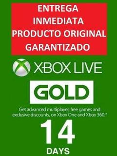 Xbox Live Gold 14 Dias   Codigo   Membresia   Multiregion