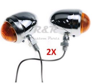 Par Pisca Seta Universal Moto Custom, Cafe Bobber Cromado