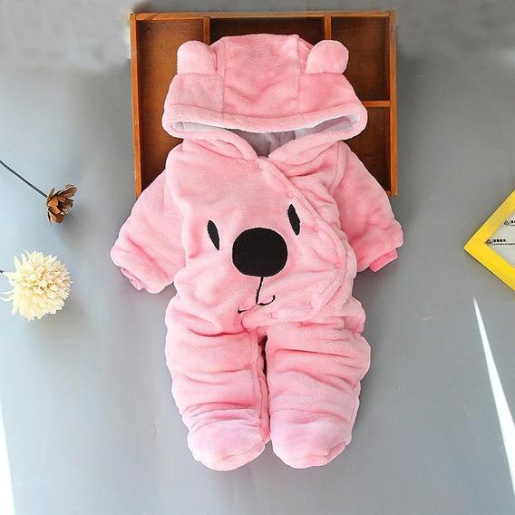 Mameluco Pijama De Oso Algodón Bebé