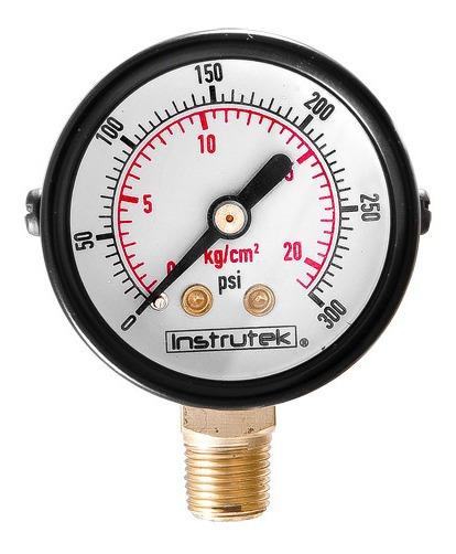 Manómetro Para Compresor Carátula 1.5 , 300 Psi (aire, Gas)