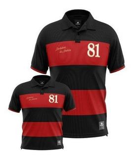 Kit 2 Camisa Polo Retrô Libertadores 81 Torcedor Pai E Filho