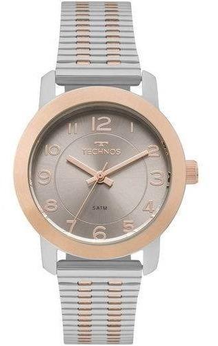 Relógio Feminino Technos Elegance 2035mls/5c - Prata/rosê