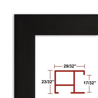 34 3/8 X 35 Satin Black Poster Frame - Profile: #97 Custom S