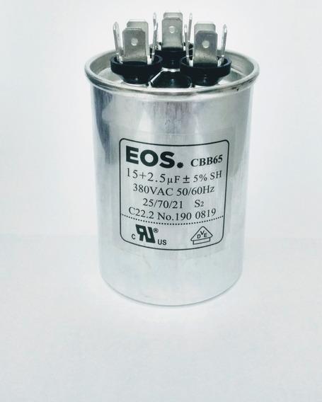 Capacitor Duplo Ar Condicionado Split 15+2,5uf 380v/440v