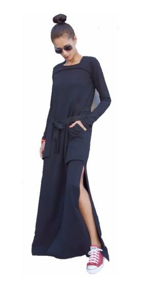 Moderno Vestido Largo Falda Abierta Suave Para Mujer 5126