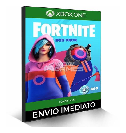 Fortnite Pacote Íris - 600 Vbucks Xbox One 25 Dígitos