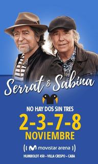 Entrada Show Sabina & Serrat