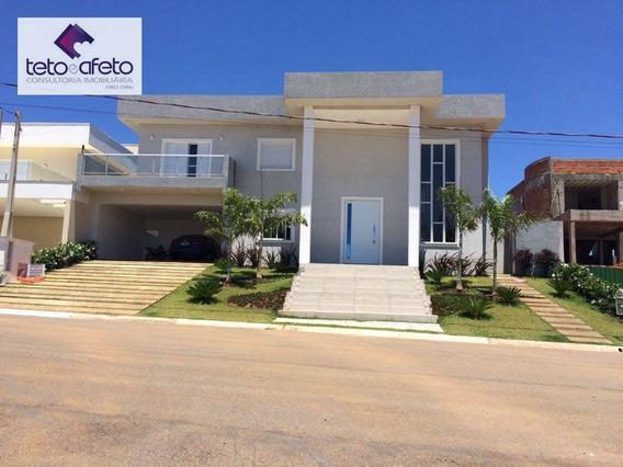 Casa Com 4 Dormitórios À Venda, 480 M² Por R$ 1.700.000 - Condomínio Fechado - Atibaia/sp - Ca2550