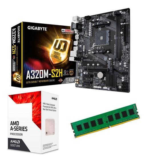 C20 Combo Actualizacion Amd Apu A8 9600 + A320 + 8gb Mexx 2