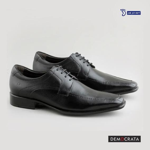 Sapato De Amarrar Democrata Em Couro 450025