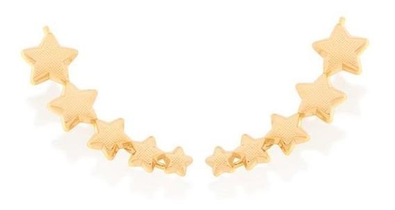 Brinco Rommanel Ear Cuff Formato Estrelas 525944