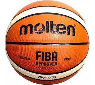 Balón Molten Basquetbol Piel Sintetica Gf7x Fiba Original