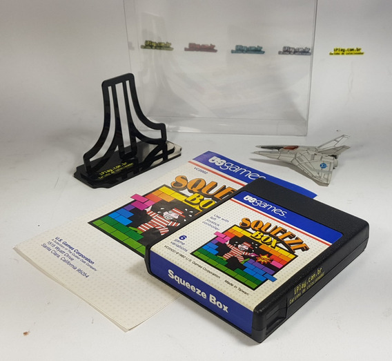 Squeeze Box - Atari 2600 [ Us Games ] Manual + Cx. Acrílico