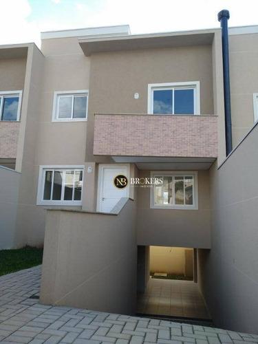 Sobrado Com 3 Dormitórios À Venda, 133 M² Por R$ 430.000,00 - Santa Cândida - Curitiba/pr - So0020