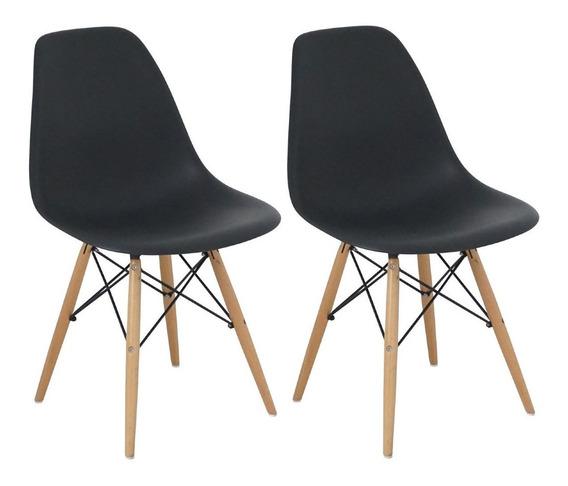 Cadeira Charles Eames Wood Design Kit 02pc Nf + Garantia