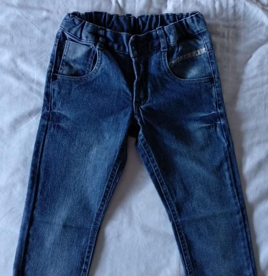 Jeans Elastizado Advance Talle 4 Niño Unisex Ajustable