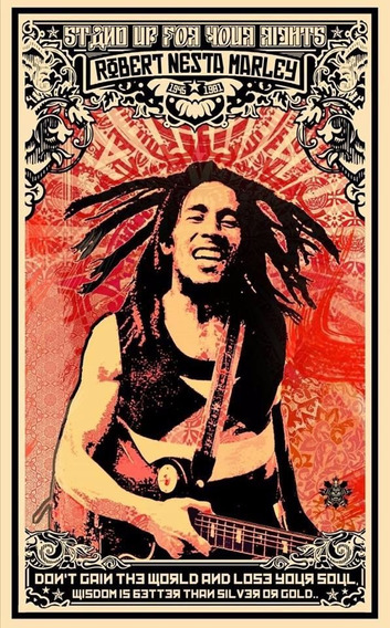 Camiseta Robert Nesta Marley - Stand Up For Your Rights