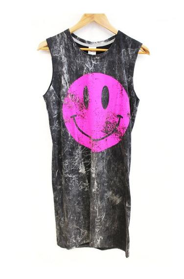 Vestido / Remera Mujer Smile Con Impresión (0085)