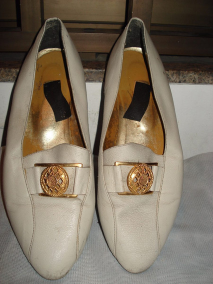 Sapato Mocassim Em Couro No 38