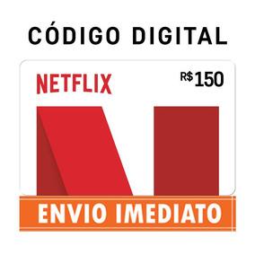 Cartão Presente Pré-pago Netflix Assinatura R$ 150 Via Email