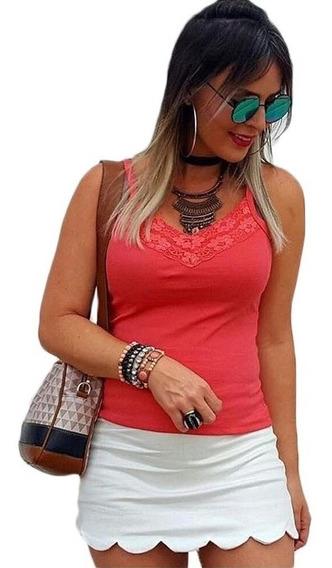 Tshirt Camiseta Blusinha Blusa Renda Rendada Canelada Blogue