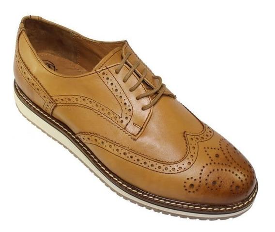 Zapatos Casuales Bostonianos Leon Hombre Piel 4103
