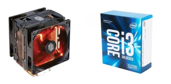 Processador Core I3-7350k + Cooler Hyper 212 Turbo Vermelho