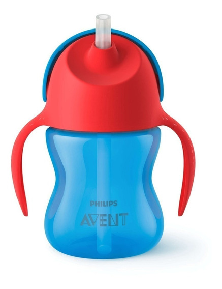Vaso Bebe Straw Cup Sorbete Antiderrame Phillips Avent 200ml