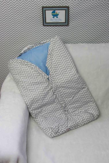 Saco Cobertor Manta, Com Zíper, Algodão, Protetor - Chevron