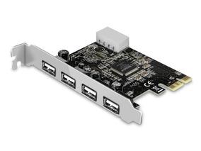 Placa Pci Express X1 Pci-e C/ 4 Portas Usb 2.0 Comtac
