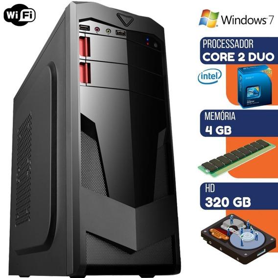 Computador Desktop Pc Ultra Intel Core 2 Duo 4gb Hd 320gb