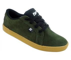 Tênis Dc Shoes Council Couro Verde Escuro(frete Gratis)