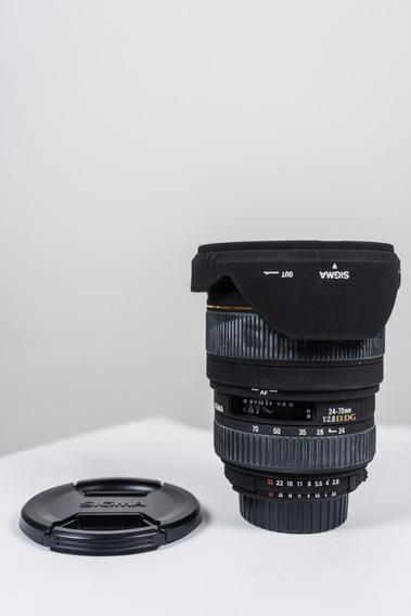 Lente Sigma 24-70mm/f2.8 Ex Dg Macro Nikon F