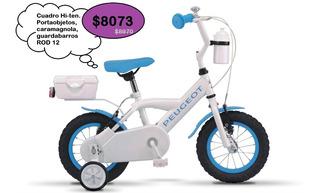 Bicicleta Peugeot Rodado 12 Niños Cj-71 Cuadro Hi-ten
