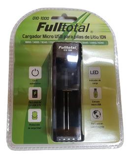 Cargador Fulltotal Pilas Litio 18650 16340 26500 - Fac A / B