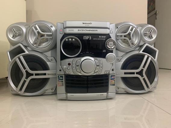 Rádio Panasonic Sa-ak320 Mp3 5 Cd Changer 300w
