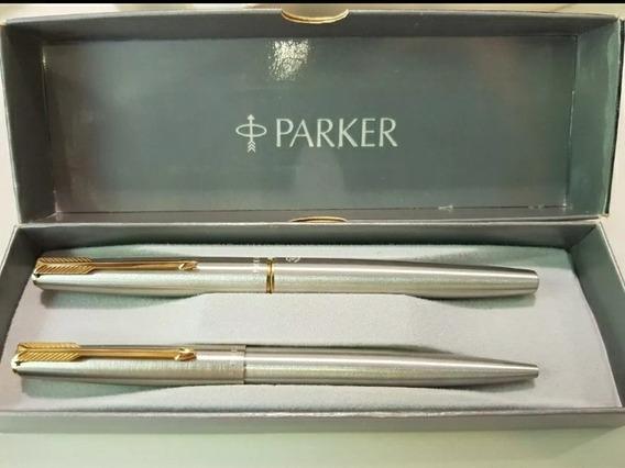 Juego De Pluma Y Bolígrafo Parker 45 Flighter Luxe