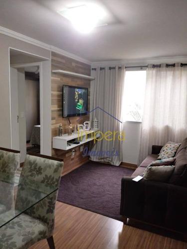 Apartamento Spazio Santos Dumont Com 2 Dormitórios À Venda, 54 M² Por R$ 210.000 - Parque Residencial Flamboyant - São José Dos Campos/sp - Ap0149