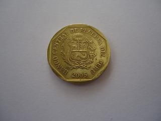 Moeda Bronze 10 Centavos Centimos Soles Ouro 2005 Peru