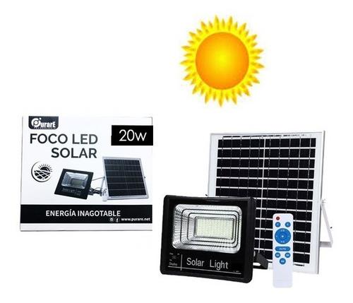 Foco Led Panel Solar 25w Independiente Con Control Remoto