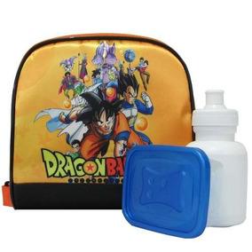 Lancheira Térmica Dragon Ball + Pote E Squeeze!!