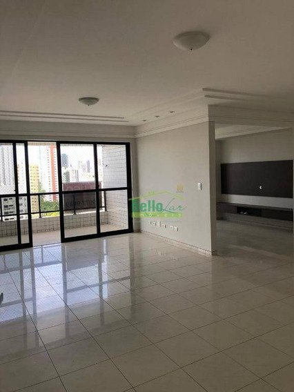 Apartamento Com 3 Dormitórios Para Alugar, 152 M² Por R$ 2.544,21/mês - Casa Forte - Recife/pe - Ap1249