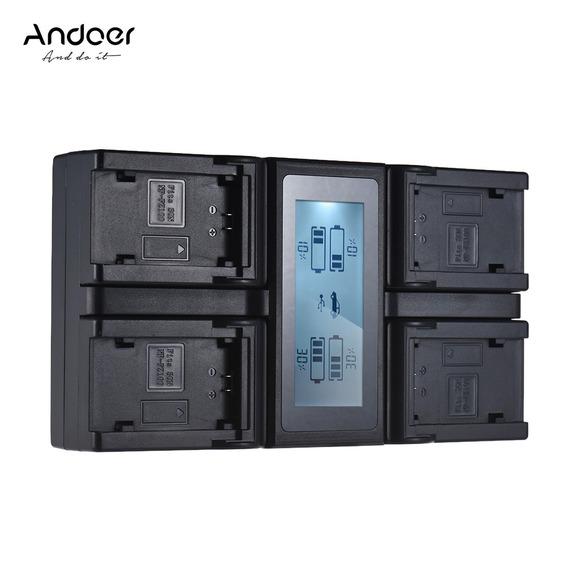 Andoer Np-fz100 4-channel Lcd Carregador De Bateria Da
