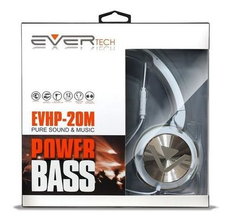 Headphone Dj Com Fio Evertech Evhp-20m