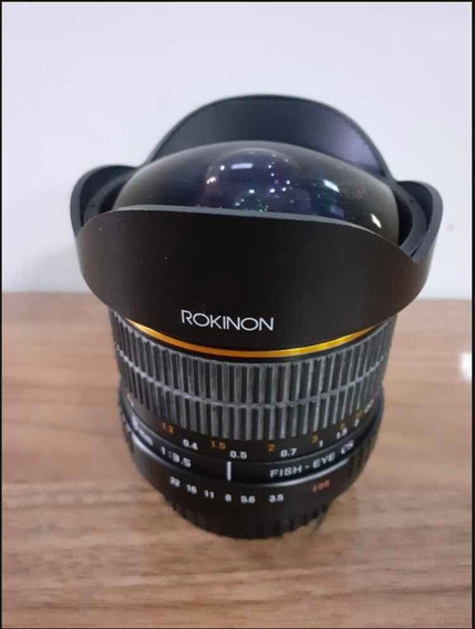 Lente Fisheye Rokinon 8mm F3.5