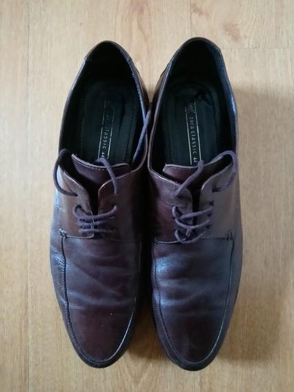 Zapatos Zara Color Marron De Hombre Talle 44.leer Descripcio